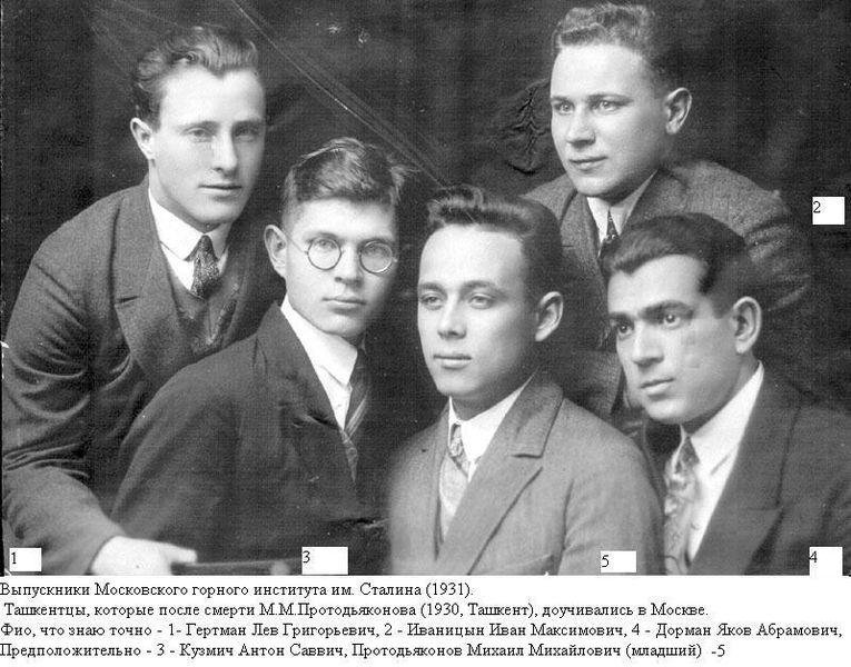 Файл:Выпускники Московского горного института 1931 год.jpg