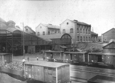 Погрузочный двор шахты Бунге