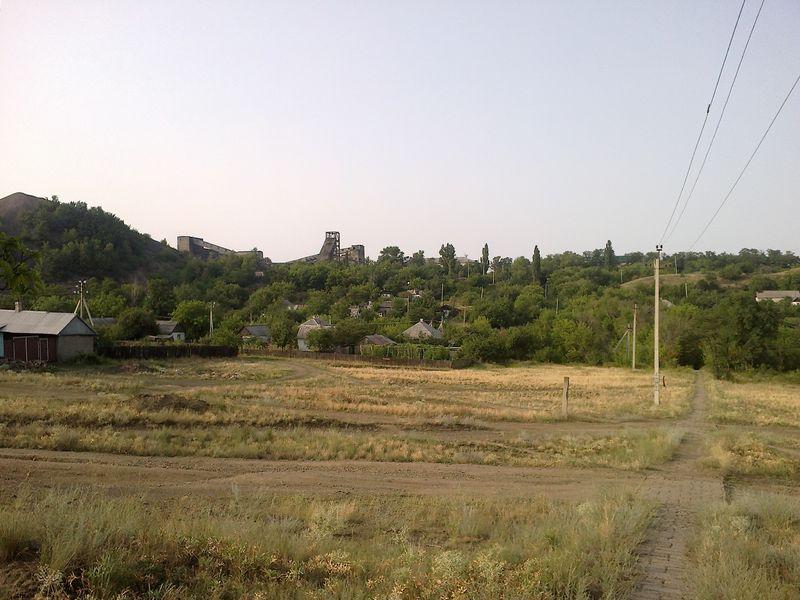 Файл:Балка Крутая. Вид на шахту.jpg