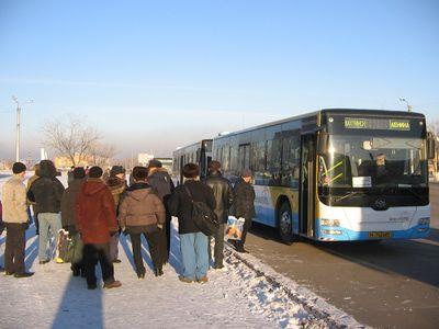 Автобус на шахту имени Ленина (Шахтинск)