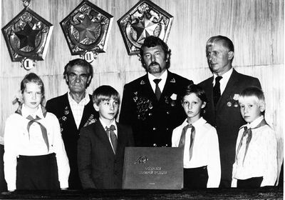 Эстафета 40 лет победы, 1985 год. Плеханов М.П., Потоман В.В., Кладиев Н.С.