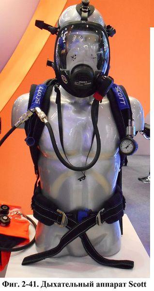 Файл:Фиг. 2-41. Дыхательный аппарат Scott.jpg