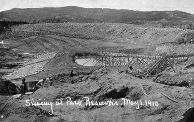 Золотодобывающая шахта, округ Шеридан 1910