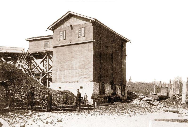 Файл:Семеновская копь, погрузочный бункер 1906 г.jpg