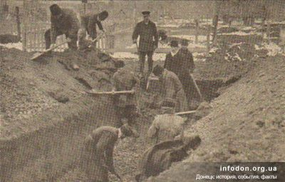 Приготовление братской могилы