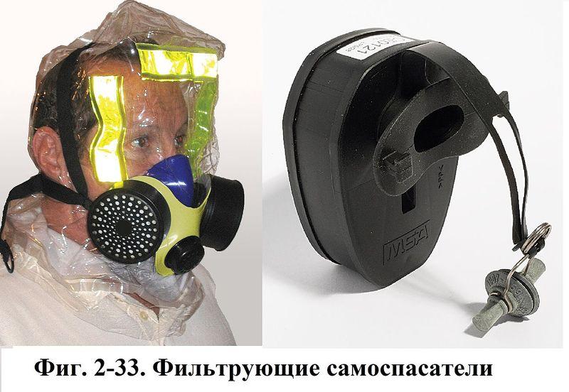 Файл:Фиг. 2-33. Фильтрующие самоспасатели.JPG