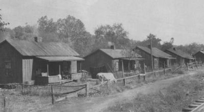 Дома шахтеров, принадлежащие компании, Брим
