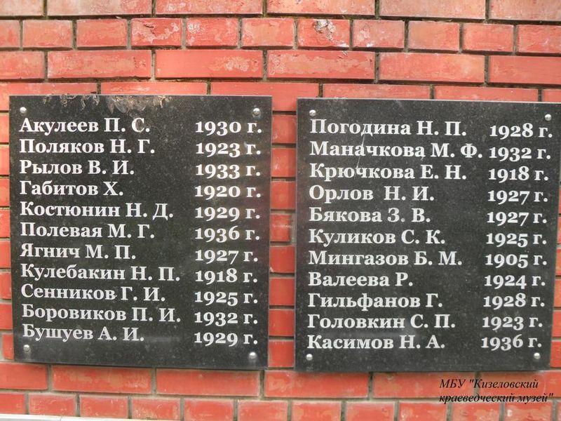 Файл:Братская могила шахтеров Кизел-3.JPG