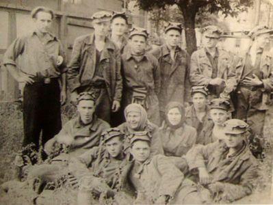 Машинисты электровоза шахты им. Димитрова 50-е годы