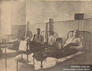 Спасенные углекопы в больнице