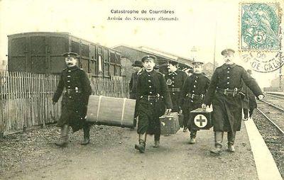 Прибытие немецких спасателей