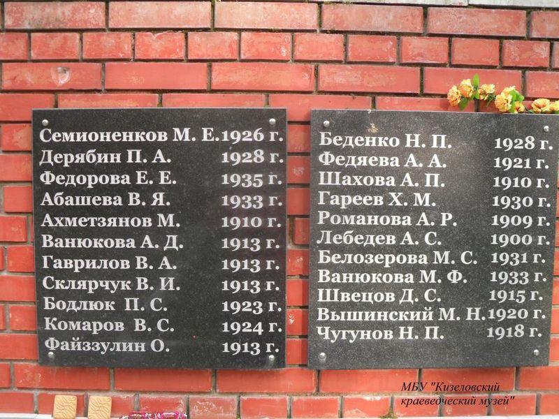 Файл:Братская могила шахтеров Кизел-2.JPG